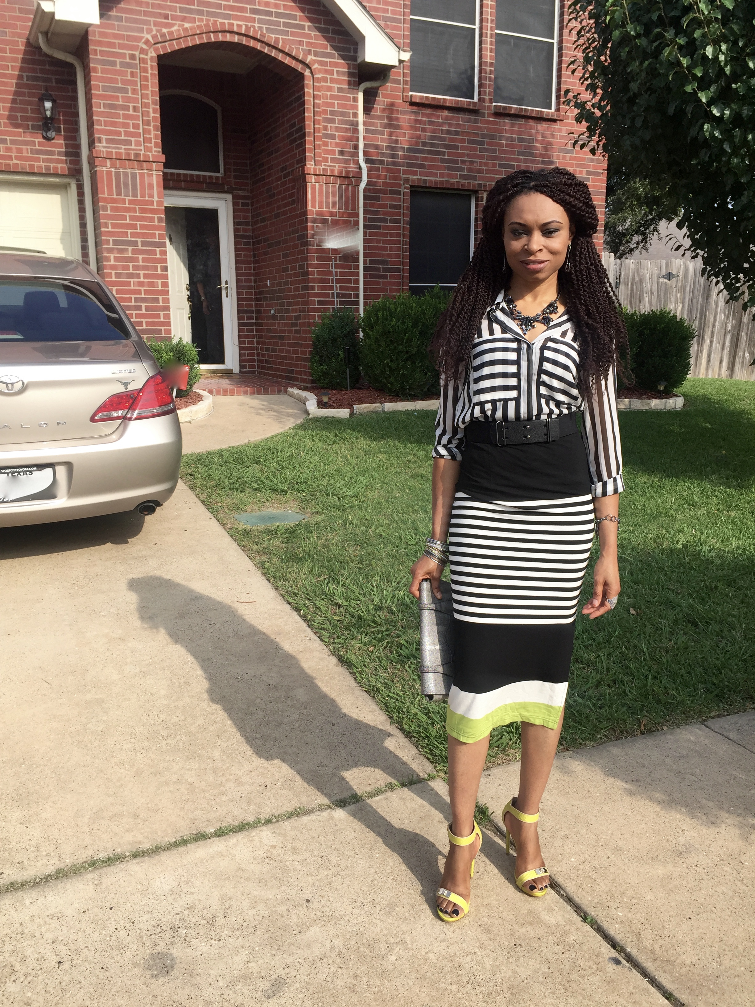 Stepping out for church...