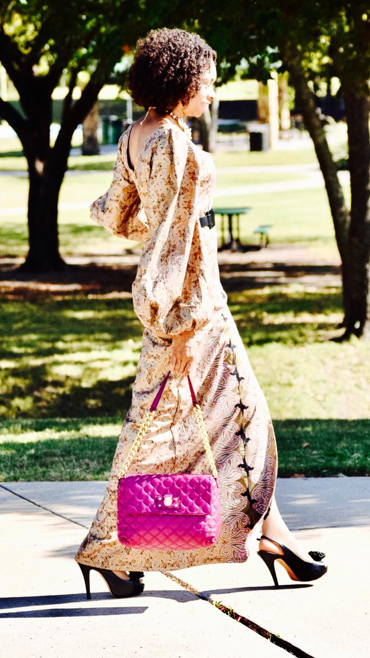 No Makeup + Paisley print ankara dress
