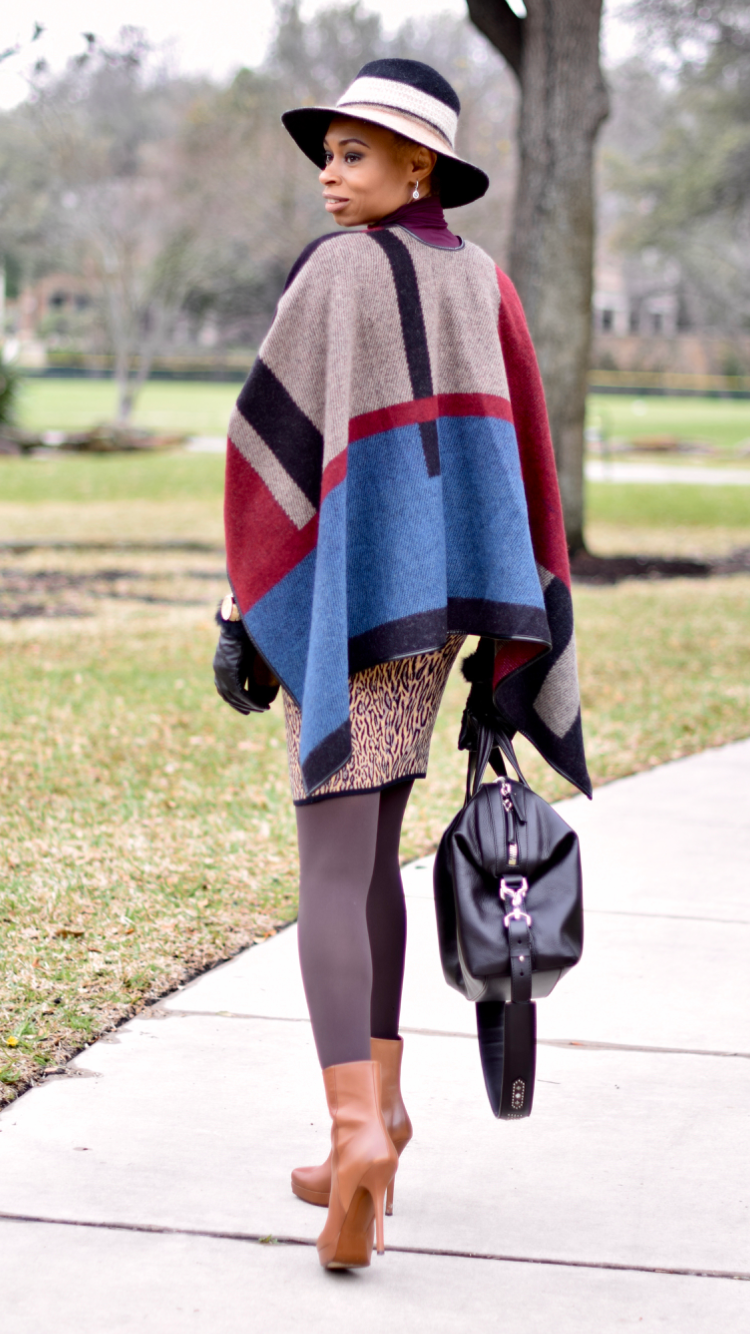 How to style a Poncho-Fashionably Posted by Vivellefashion