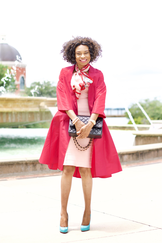 Pink body con bandage dress + Blogiversary