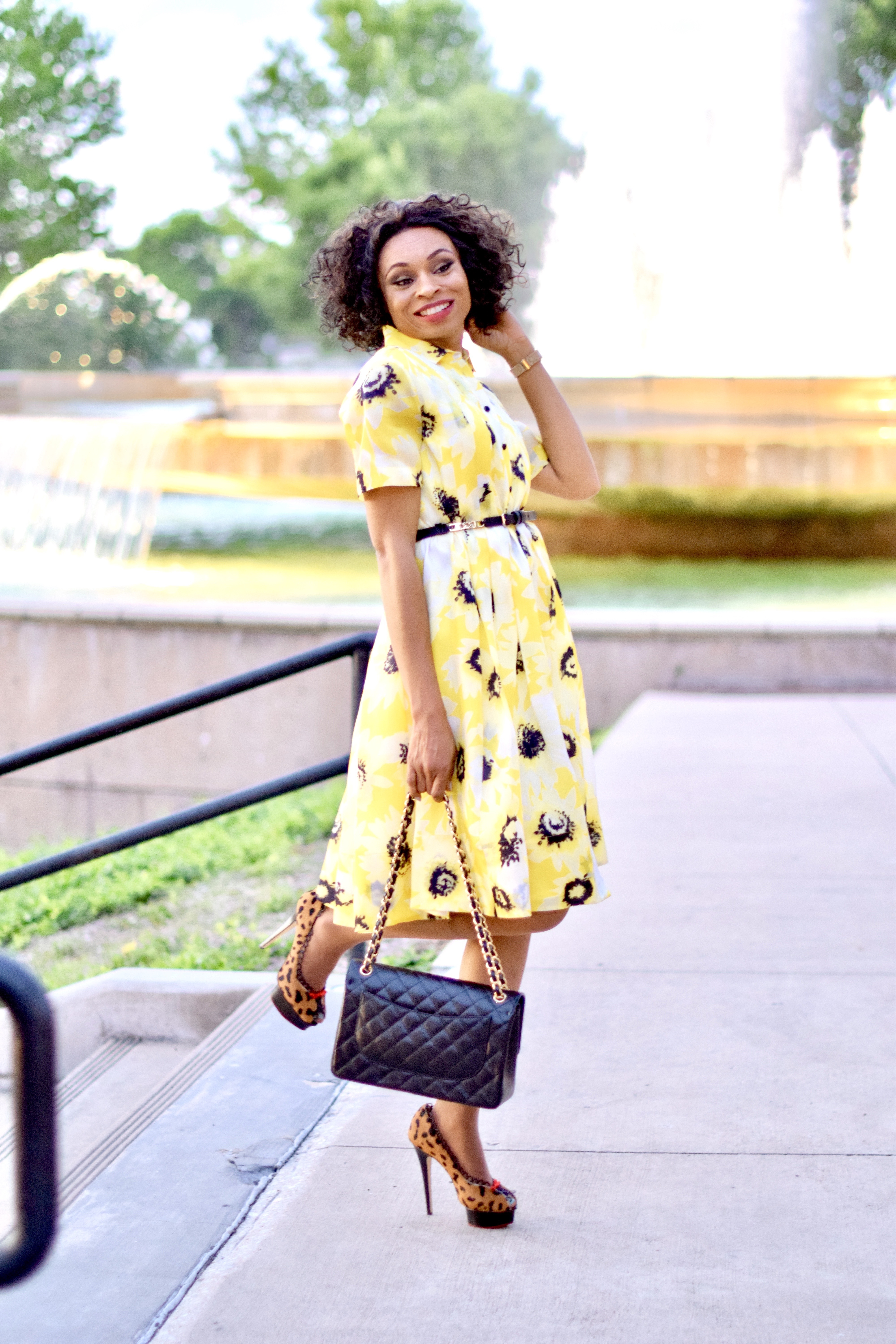 Kate Spade Sunny Daisy Yellow shirtdress Posted by Vivellefashion