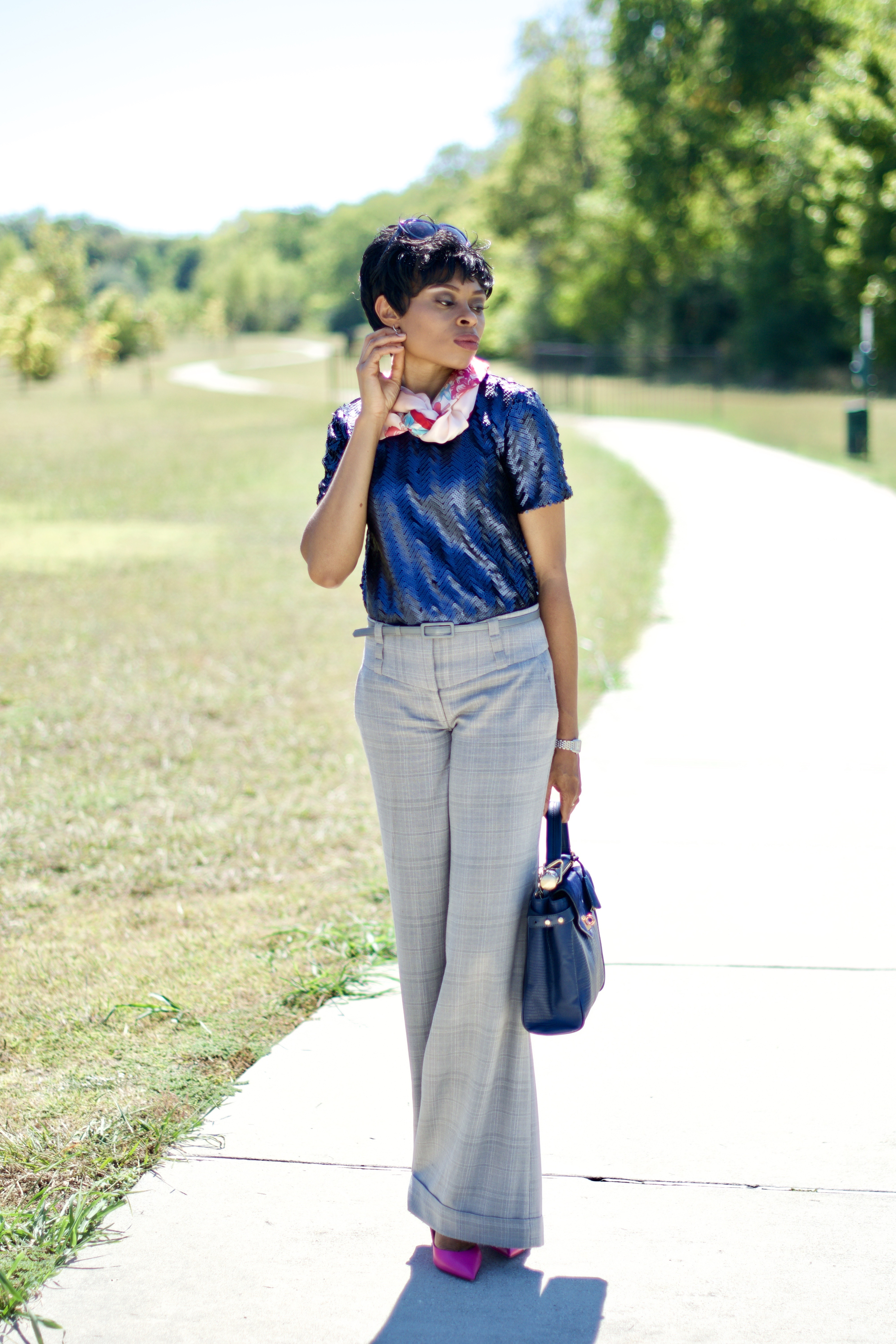 Style sequins as work wear (like a Pro)