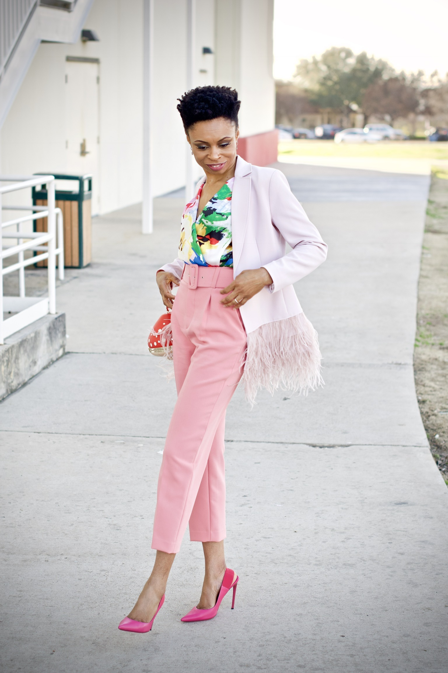 Pastels, florals, and a pop of color for spring