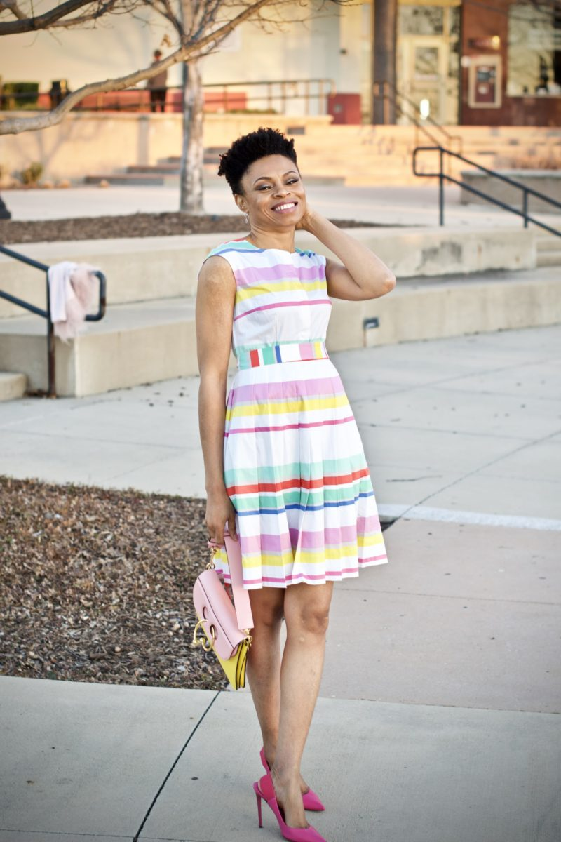 What to wear to a garden party: Rainbow pastels