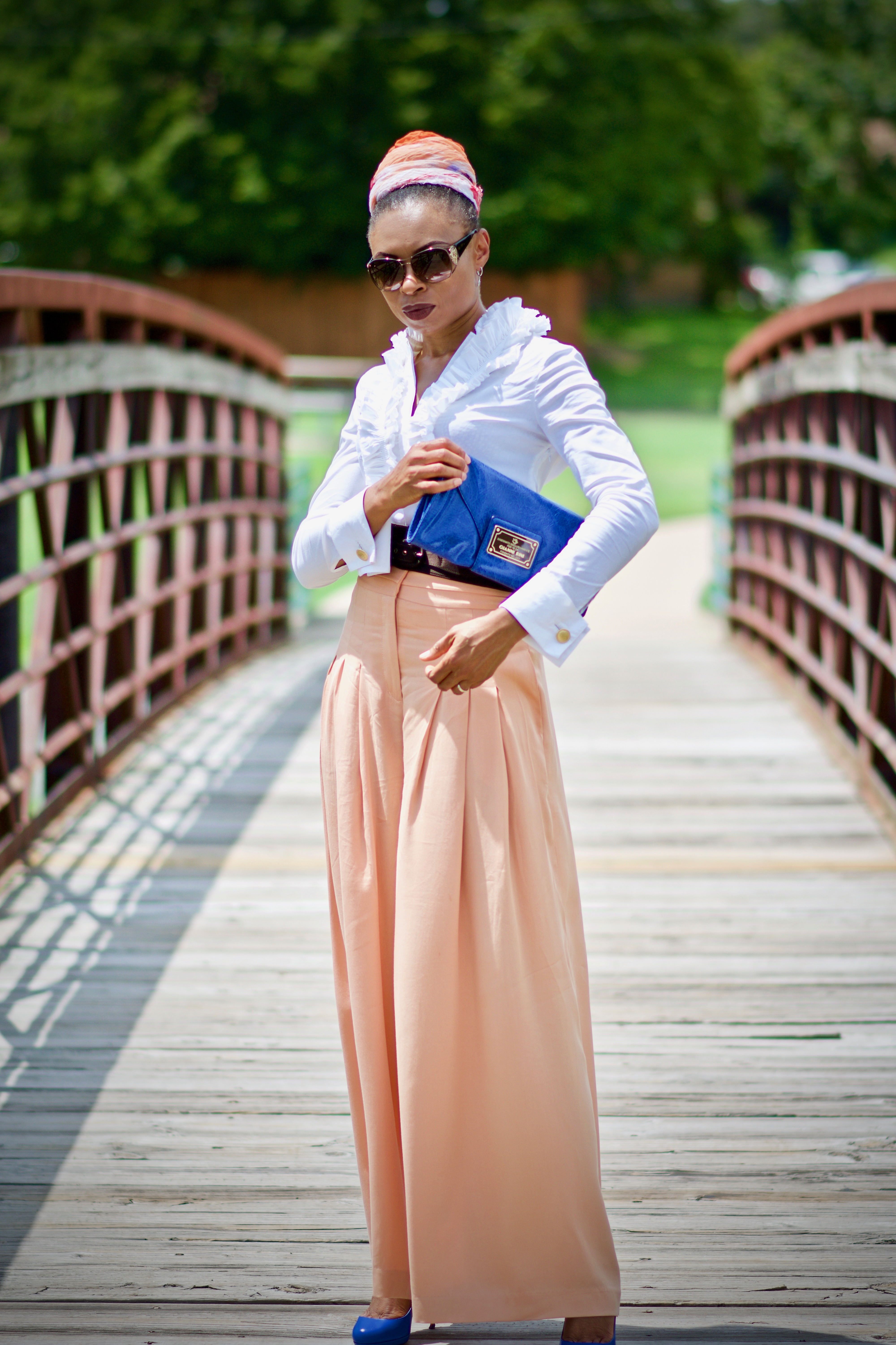 From desk to dinner; How to style a pleated wide leg pant