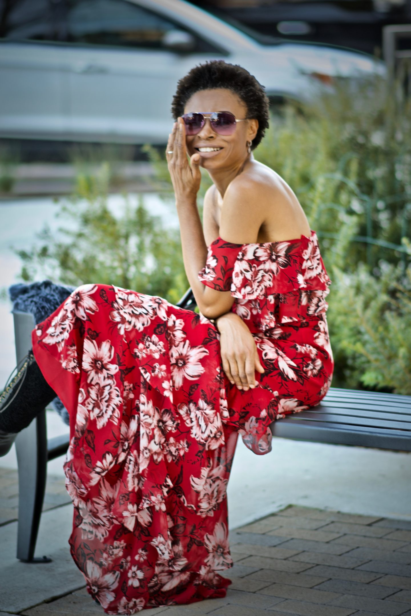 Styling Off the shoulder floral maxi dress year-round