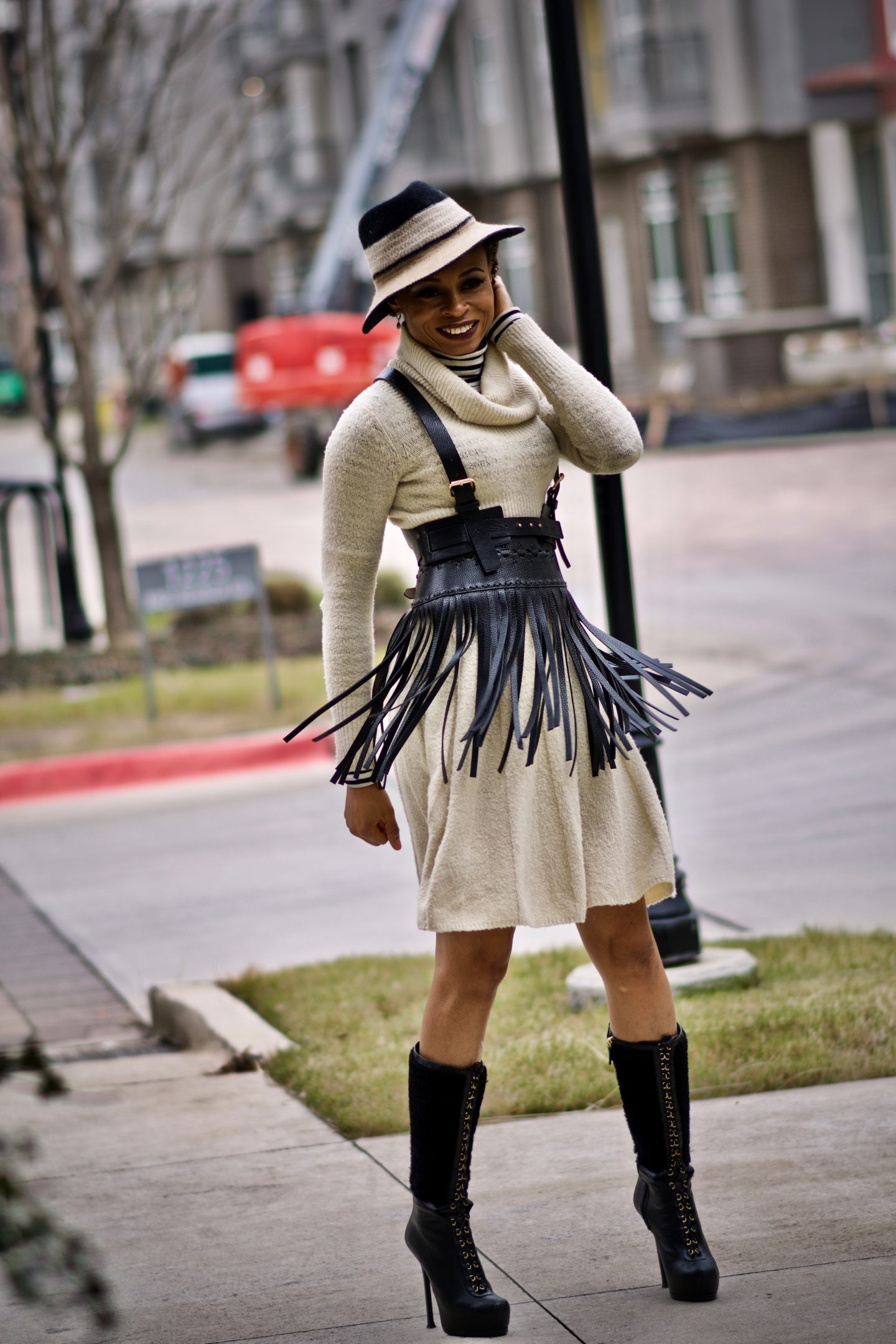 How to restyle your old sweater dress